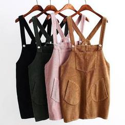 Nycto - 燈芯絨背帶裙