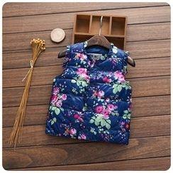 Rakkaus - Kids Floral Padded Vest