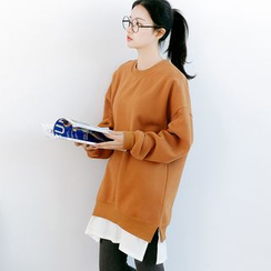 Forest Girl - Mock Two-Piece Long Pullover