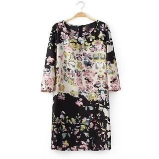 LULUS - Floral Shift Dress