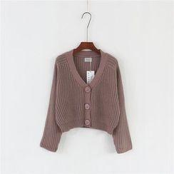 Mushroom Street - 短款粗织针织开衫