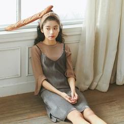 MISS YOYO - 吊帶背帶裙