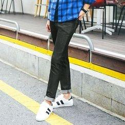 MEOSIDDA - Washed Slim-Fit Jeans