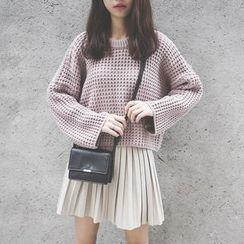 Polaris - 純色寬鬆毛衣