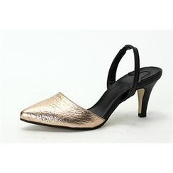 MODELSIS - Pointy-Toe Sling-Back Pumps
