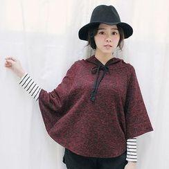 Tokyo Fashion - Hooded Drawstring Cape