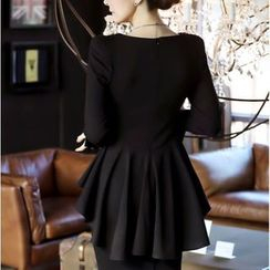 Only Eve - Ruffle-hem Knit Dress