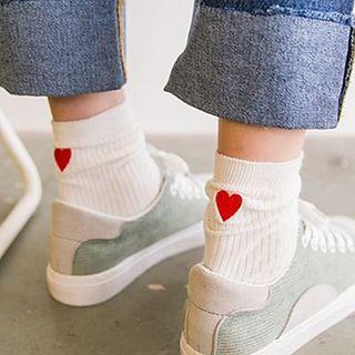 Sock Kingdom - Heart-Embroidered Socks