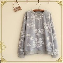 Fairyland - Long-Sleeve Floral Print T-Shirt
