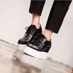 VIVIER - Patent Platform Oxfords