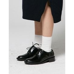 FROMBEGINNING - Faux-Leather Oxfords