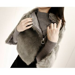 Marlangrouge - Faux-Fur Cape Jacket