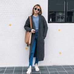 Bloombloom - Plain Long Cardigan