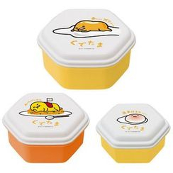 Skater - Gudetama Dome Lid Food Container Set (3 Pieces)