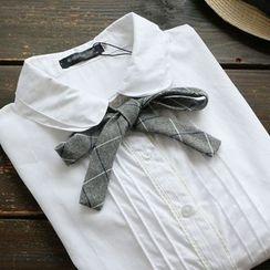 YOYO - 領結帶打褶襉襯衫