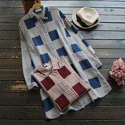 YOYO - 长袖格子长衬衫
