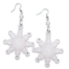 Sweet & Co. - Sweet&Co. White Snow Flurry Swarovski Crystal Earrings