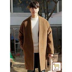 JOGUNSHOP - Open-Front Wool Blend Coat