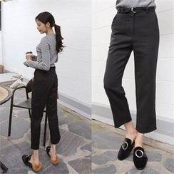 QNIGIRLS - Wide-Leg Pants with Belt