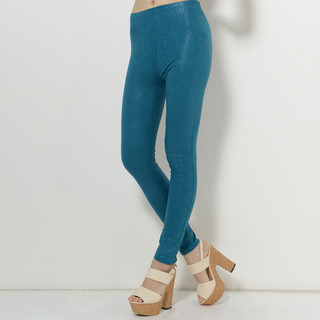 59 Seconds - Faux-Leather Snake-Print Leggings