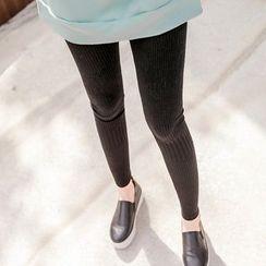 Seoul Fashion - Cable-Knit Leggings
