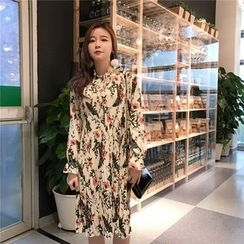 Bloombloom - Floral Print Chiffon Dress