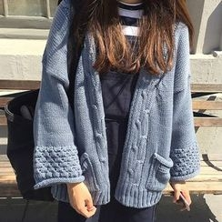 Dute - Drop Shoulder Thick Cardigan