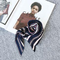 NANING9 - 風琴褶印花圍巾