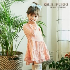 LILIPURRI - Girls Polka-Dot Tiered Dress