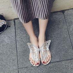 Pangmama - Cutout Butterfly Slide Sandals