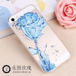 Kindtoy - 闪石玫瑰印花iPhone 5s保护套