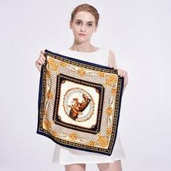 RGLT Scarves - Printed Square Silk Scarf