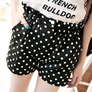 Tokyo Fashion - Paperbag-Waist Dotted Shorts