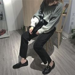 Bloombloom - Side Slit Straight Fit  Pants