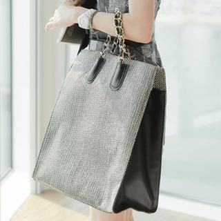 vivaruby - Chain-Strap Color-Block Tote