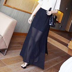 Cloud Nine - Slit Chiffon Maxi Skirt