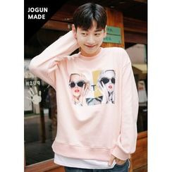 JOGUNSHOP - Long-Sleeve Print T-Shirt