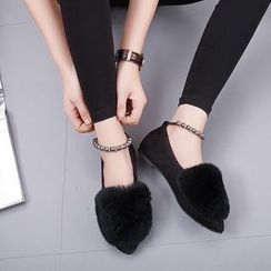 Danso - Furry Trim Ankle Boots Flats