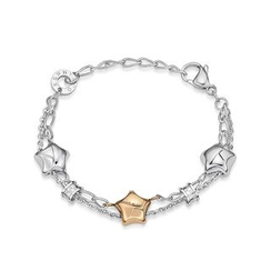 Kenny & co. - Share Of Love 3 Stars Steel Bracelet (Rosegold)