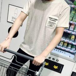 ZZP HOMME - Short-Sleeve Aspplique T-Shirt