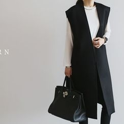 NANING9 - Open-Front Long Vest