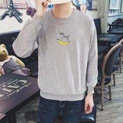 子俊 - 斑馬刺繡燈芯絨套衫