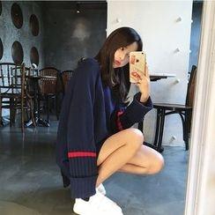 Saranghae - 条纹长款毛衣