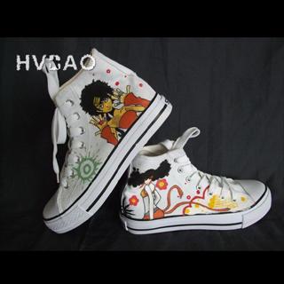 HVBAO - 'Cool Girls' High-Top Canvas Sneakers