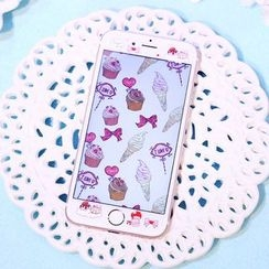 Sea Girl - Dessert Print iPhone 6 / 6S / 6 Plus / 6S Plus Tempered Glass Screen Protective Film