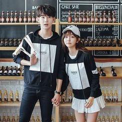 TOOI - Couple Matching Printed Hoodie