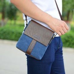 Bagolo - Paneled Canvas Cross Bag