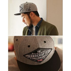 STYLEMAN - Lettering Patch Two-Tone Baseball Cap