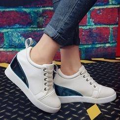 BAYO - 內增高拼接休閒鞋
