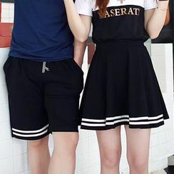 Lovebirds - 条纹短裤 / 条纹裙子